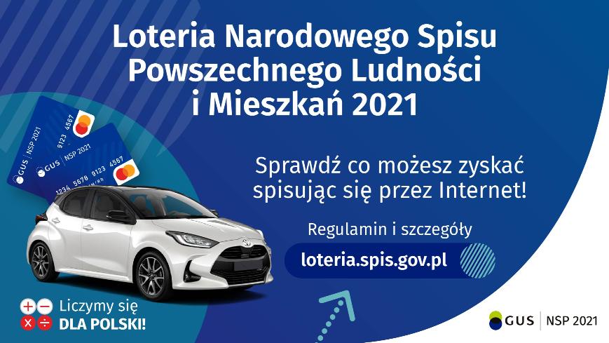 Infografika: UWAGA! Loteria Narodowego Spisu Powszechnego Ludności i Mieszkań!