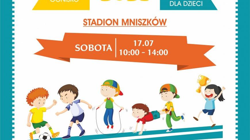 Plakat z informacją o imprezie pod nazwą Dzień Sportu