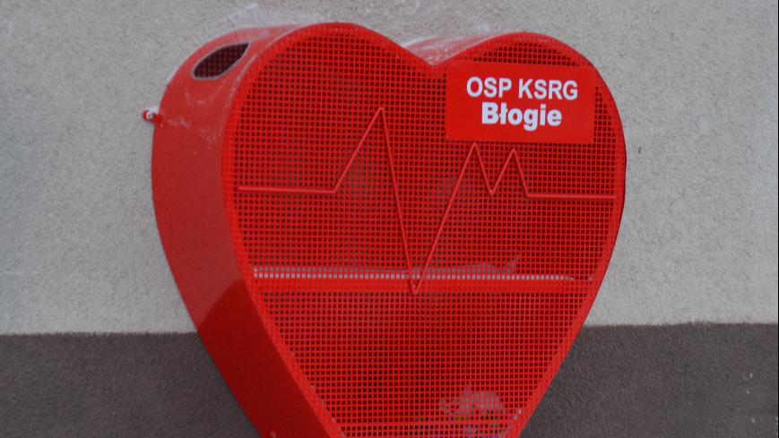 Czerwone Serce od OSP Błogie